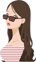 お洒落にサングラスをかける女性
